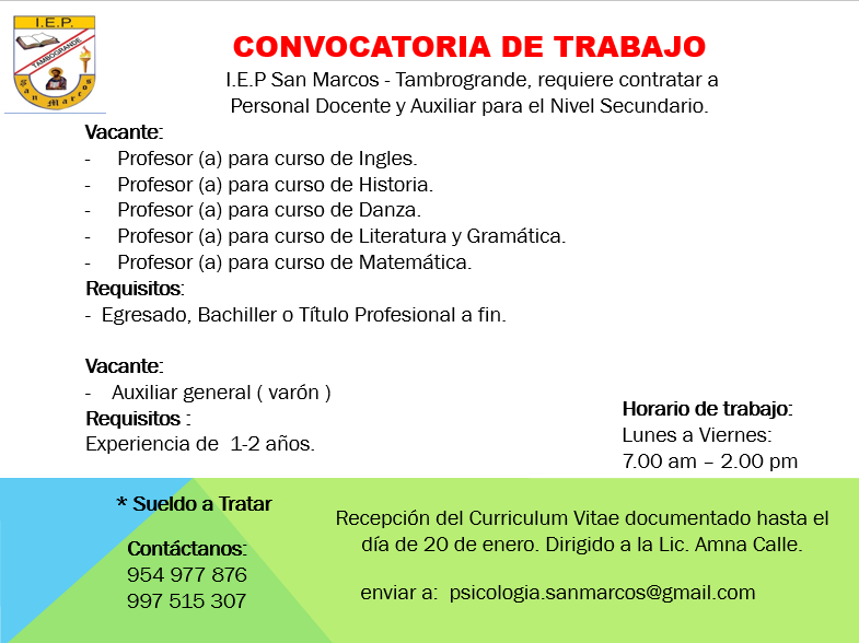 Convocatoria de empleo « Boletin Digital de la Universidad ...
